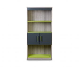 grey and green, bookcase, storage unit