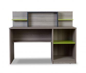 grey and green, study desk, kids