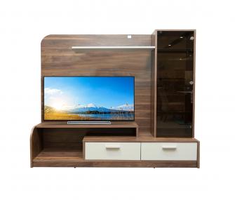 wooden tv table, living room, hub furniture