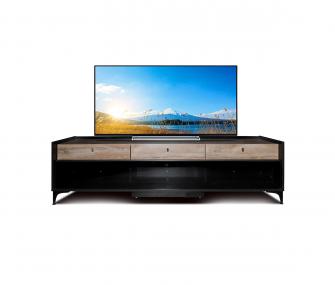 black, wooden, tv tables, hub furniture