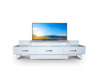 white tv unit, living room, hub furniture