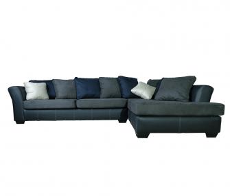Hub Furniture • black and leather corner sofa • black and leather corner sofa • Hub Furniture