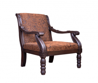 classic brown chair, brown chair, living room