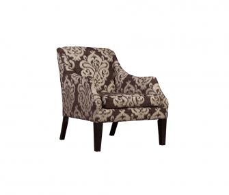 brown armchair, printed armchair, living room