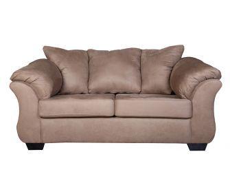 beige loveseat, comfy loveseat, living room