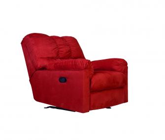 Bright Red Reclining Chair, modern living room,Hub Furniture,Living room