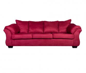 كنبة 3 مقعد احمر