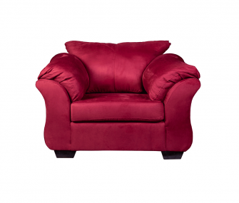 comfy armchair, red armchair, living room