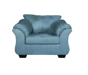 comfy armchair, blue armchair, living room