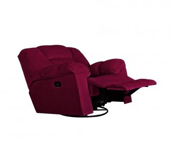 Red Swivel Rocker Recliner, modern Living room,Hub Furniture,Living room