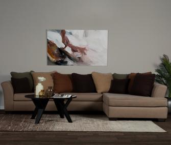 Hub Furniture • brown right L shaped sofa • brown right L shaped sofa • Hub Furniture