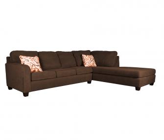 Hub Furniture • Right-sided Brown Corner Sofa • Right-sided Brown Corner Sofa • Hub Furniture
