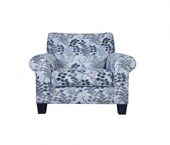 printed armchair, armchair, living room