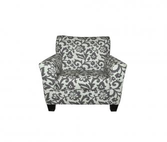brown armchair, living room, armchair