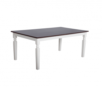 white X brown dining table, Dining room furniture,Hub Furniture,dining room