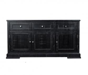 black buffet, hub furniture, dining room