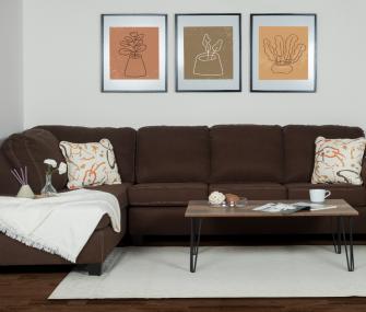 Hub Furniture • Brown Left-Sided Corner Sofa • Brown Left-Sided Corner Sofa • Right-sided Corner Sofa • AE-730-36-13 L-Shape • AE-732-36-13 L-SHAPE • Hub Furniture