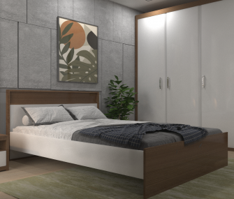 Brown & White Youth Bedroom