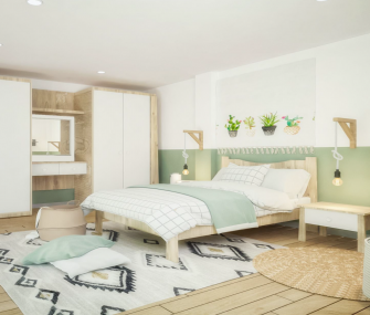 120cm Youth and Kids Bedroom