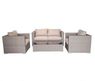 Cream & brown rattan outdoor seating set,hub furniture,garden furniture