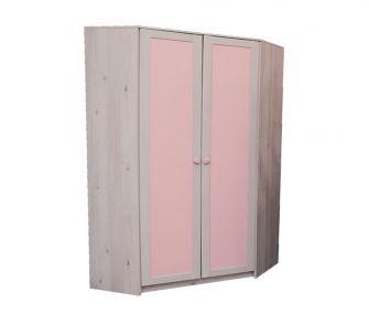 wooden pink wardrobe, 2 doors wardrobe, corner wardrobe