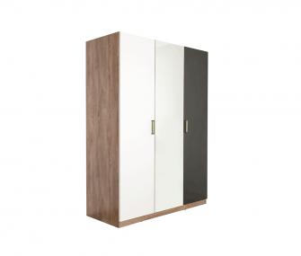 white and grey wardrobe, 3 doors wardrobe, modern wardrobe