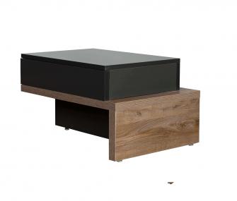 black wooden, nightstand, bedroom, hub furniture