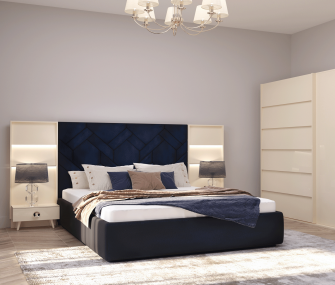 Modern High Headboard Bedroom,King Bedroom, HUB Furniture