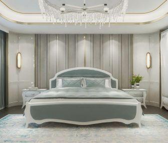 غرفة نوم رئيسية 180 سم ابيض في اخضر فاتح