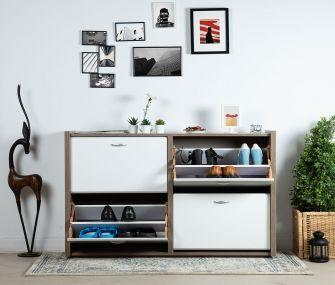 white shoe rack, modern, hub furniture