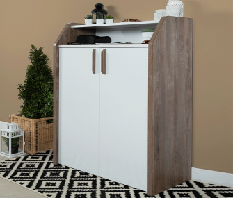 white wooden, shoe rack, hub furniture