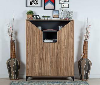 grey wooden, shoe rack, modern, hub furniture