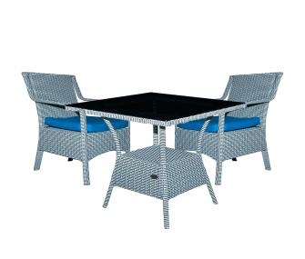 grey, blue, outdoor furniture