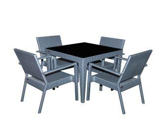 grey, black, outdoor set