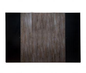 wooden wardrobe, black wardrobe, 6 doors wardrobe