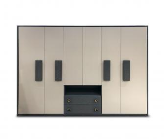 grey wardrobe, 6 doors wardrobe, wardrobes