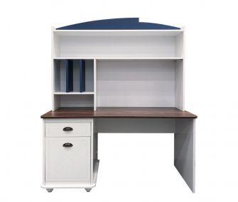 white study desk, blue study desk, new study desk
