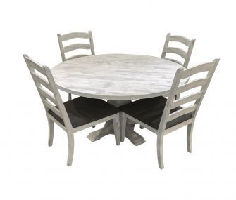 round dining table, 4 chairs, hub furniture