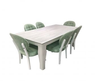 EM-JULIAN-DN Dining table with 6 chairs