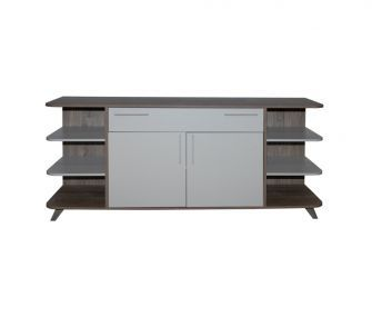 wooden white buffet, dining room, hub furniture