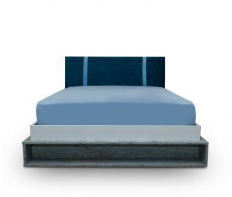 blue bed, boys bed, kids bedroom, hub furniture