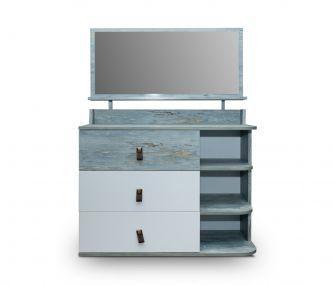 ORIGNAL-WHITE-BD Dresser with mirror