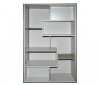bookcase, white, living room, hub furniture
