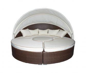 سرير دائري بيج