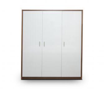 wooden white wardrobe, 3 doors wardrobe, modern wardrobe