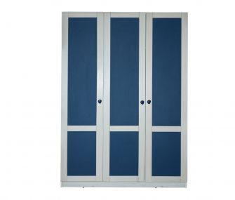 blue wardrobe, 3 doors wardrobe, modern wardrobe