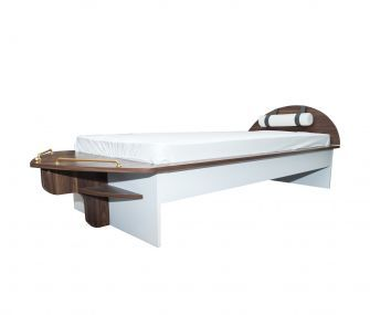 brown bed, kids bed, bedroom, hub furniture