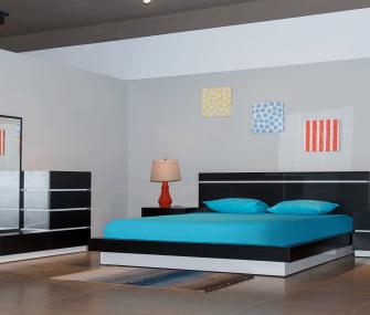 غرفة نوم مودرن لون اسود