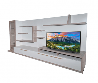 beige tv unit, large tv unit, living room, hub furniture
