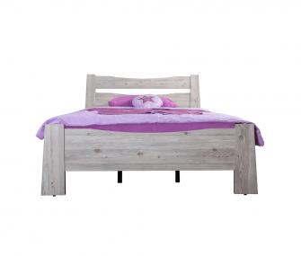 wooden bed, beige, kids bedroom, hub furniture